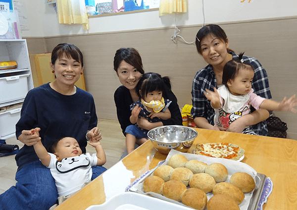 親子でパン作り体験
